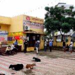 People queue at a COVID-19 testing centre at Urban Primary Health Centre, Bidipeth, Nagpur under Ayushman Bharat. Image credit: Ganesh Dhamodkar, CC BY-SA 4.0 , via Wikimedia Commons. Ayushman Bharat centres concept.